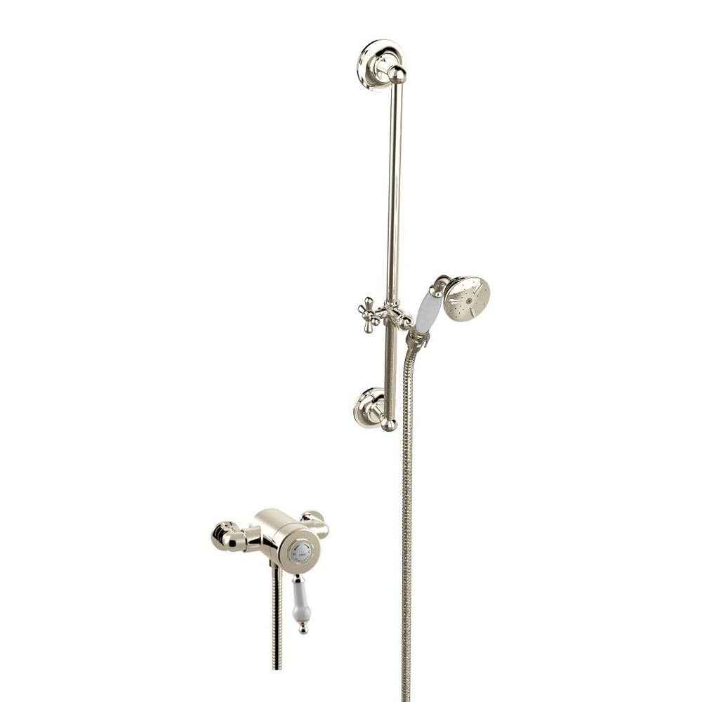 Heritage Glastonbury Exposed Shower with Premium Flexible Riser Kit - Vintage Gold - SGSIN06 profile large image view 1