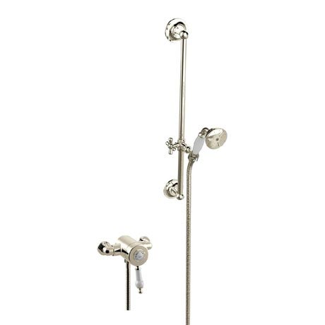 Heritage Glastonbury Exposed Shower with Premium Flexible Riser Kit - Vintage Gold - SGSIN06
