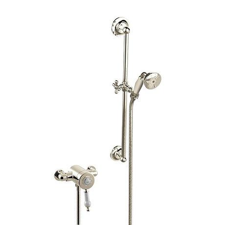 Heritage Glastonbury Exposed Shower with Premium Flexible Riser Kit - Vintage Gold - SGSIN06