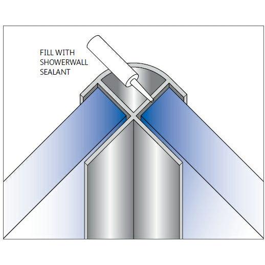 Showerwall - External Corner Fixing Trim - 5 Colour Options profile large image view 1
