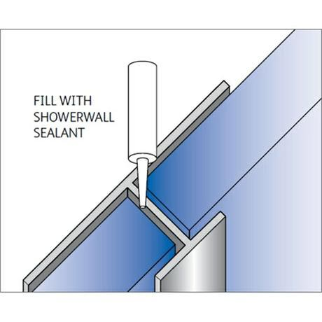 "Showerwall - ""H"" Join Fixing Trim - 5 Colour Options"