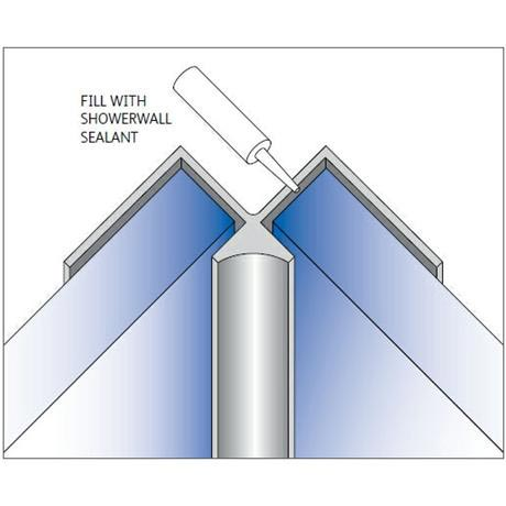 Showerwall - Internal Corner Fixing Trim - 5 Colour Options