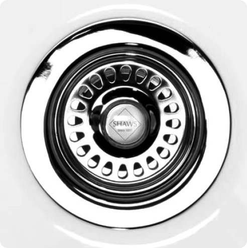 Shaws of Darwen Basket Strainer Sink Waste - Chrome - SHA-BSW-CHR profile large image view 1