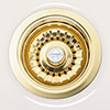 Shaws of Darwen Basket Strainer Sink Waste - Gold Plated - SHA-BSW-GLD profile small image view 1
