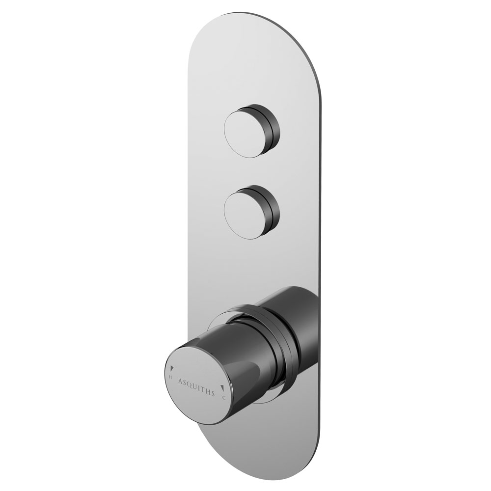 Asquiths Solitude Push Button Shower Valve (Twin Outlet) - SHB5102