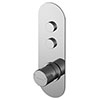 Asquiths Solitude Push Button Shower Valve (Twin Outlet) - SHB5102 profile small image view 1