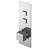 Asquiths Revival Push Button Shower Valve (Twin Outlet) - SHC5102 profile small image view 1