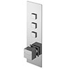 Asquiths Revival Push Button Shower Valve (Triple Outlet) - SHC5103 profile small image view 1