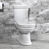 Silverdale Hillingdon Close Coupled Toilet inc Soft Close Seat profile small image view 1