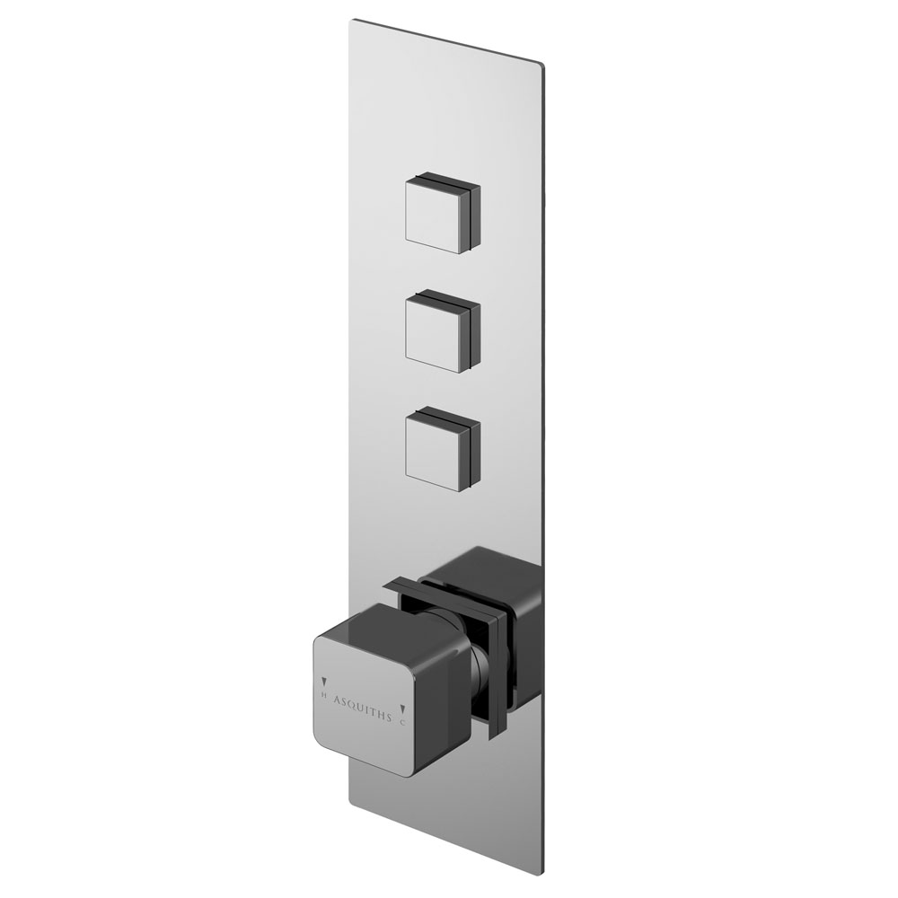 Asquiths Tranquil Push Button Shower Valve (Triple Outlet) - SHD5103