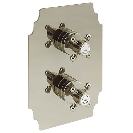 Heritage Hartlebury Twin Concealed Shower Valve with Two Outlet Diverter - Vintage Gold - SHDA03