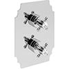 Heritage Hartlebury Twin Concealed Shower Valve - Chrome - SHDC02 profile small image view 1