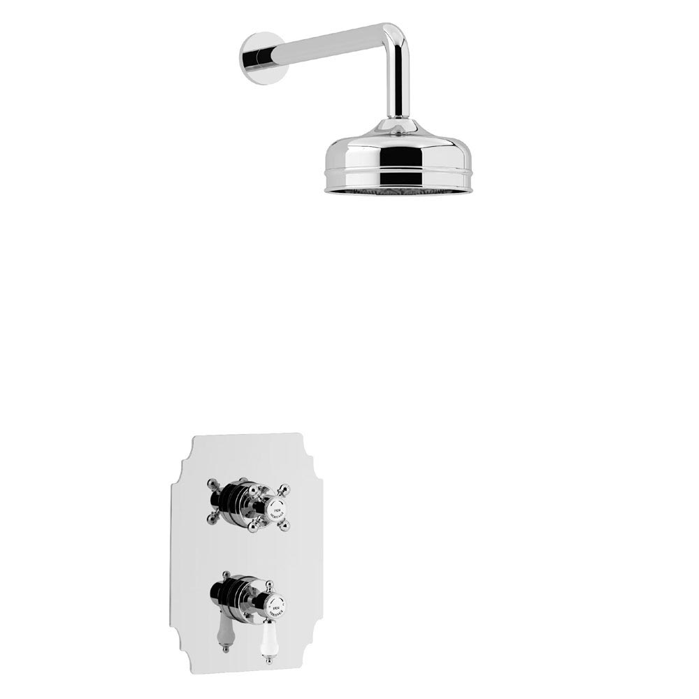 Heritage Hartlebury Recessed Shower with Premium Fixed Head Kit - Chrome - SHDDUAL03 Large Image
