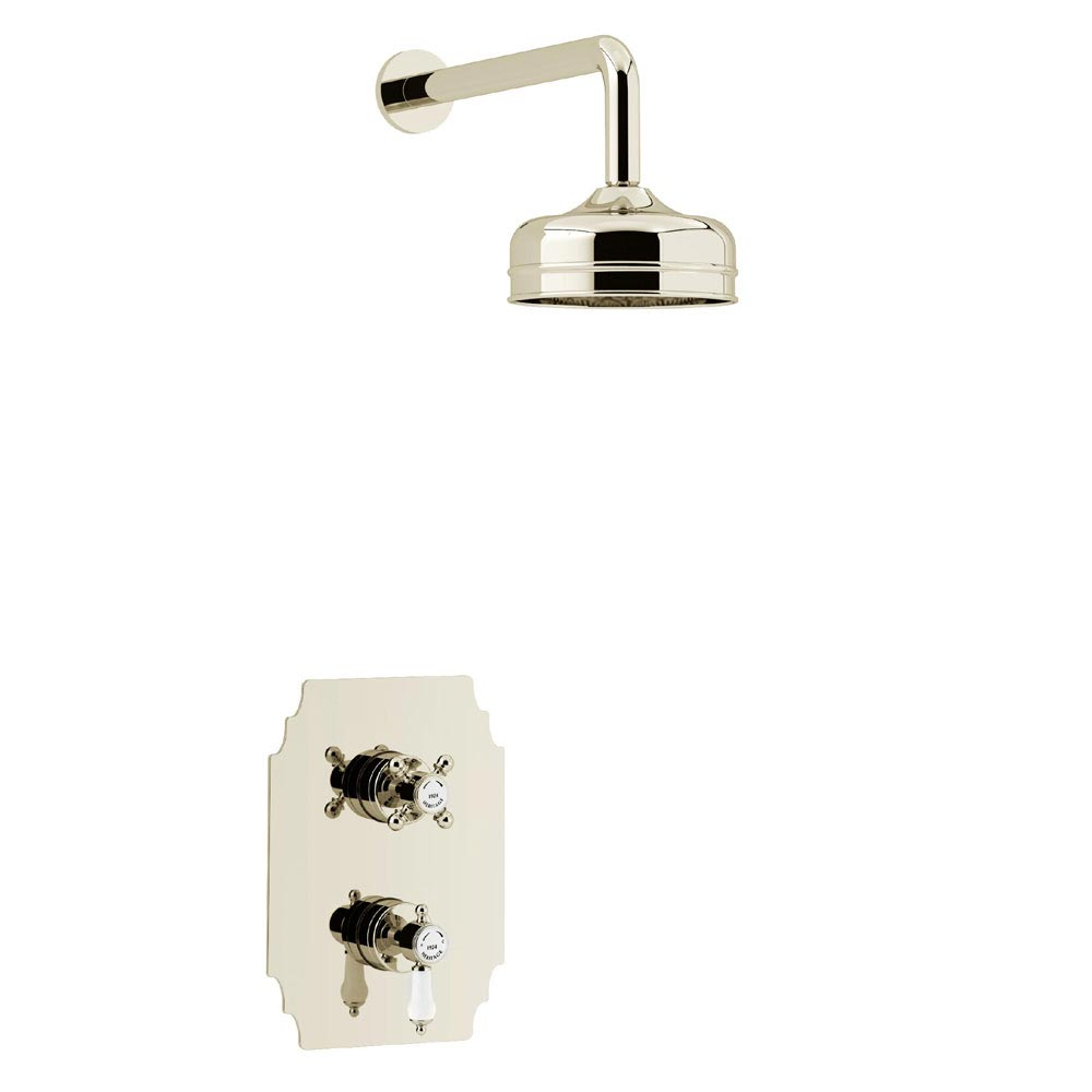Heritage Hartlebury Recessed Shower with Premium Fixed Head Kit - Vintage Gold - SHDDUAL04 profile large image view 1