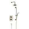 Heritage Hartlebury Recessed Shower with Premium Fixed Head and Flexible Riser Kit - Vintage Gold - SHDDUAL06 profile small image view 1