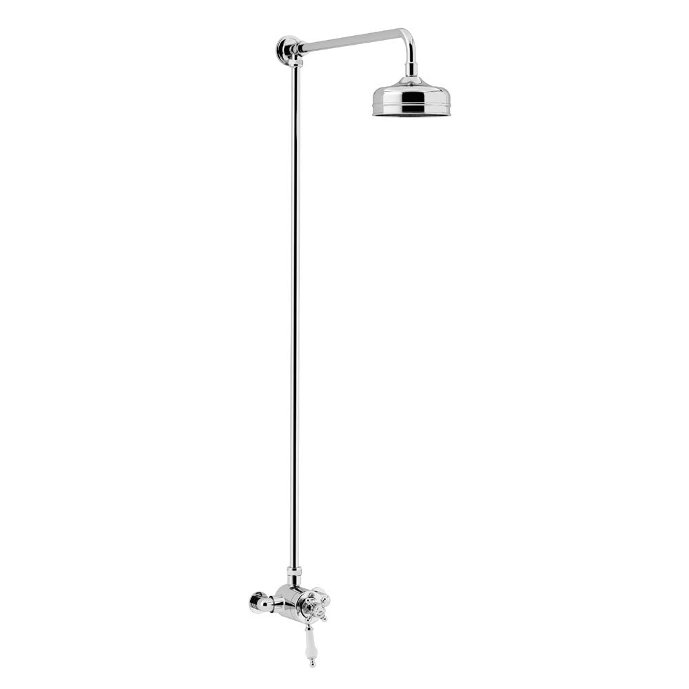 Heritage Hartlebury Exposed Shower with Premium Fixed Riser Kit - Chrome - SHDDUAL07 Large Image