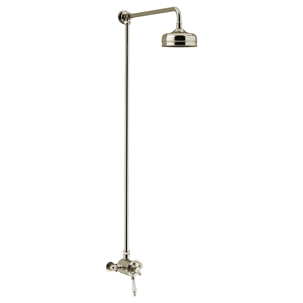 Heritage Hartlebury Exposed Shower with Premium Fixed Riser Kit - Vintage Gold - SHDDUAL08