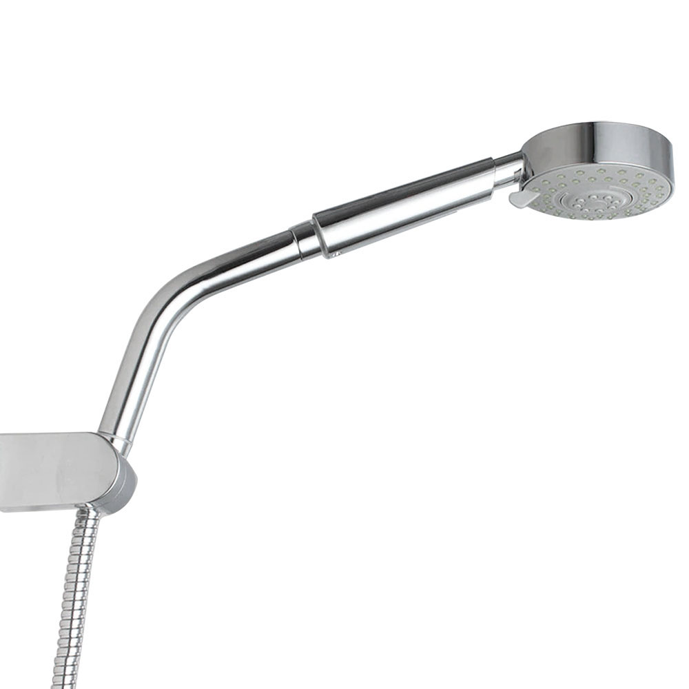 160mm Angled Chrome Extension Shower Arm for Handheld Shower Heads