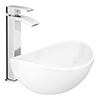 Summit High Rise Mono Basin Mixer with Shell Sit-on Vanity Basin profile small image view 1