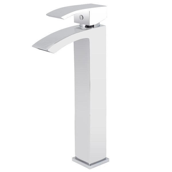 Summit high rise mono basin mixer with shell sit on vanity basin Standard Large Image