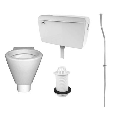RAK Concealed Urinal Pack with 1 Shino Urinal Bowl