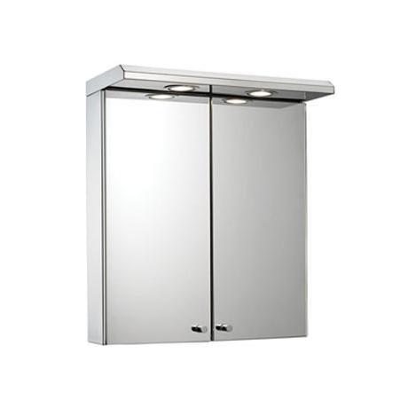 Croydex - Shire 2-Door Mirror Cabinet with Light & Shaver Socket - WC266205E