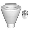 RAK Shino Urinal Bowl + Waterless Urinal System profile small image view 1