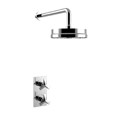 "Heritage Hemsby Dual Control Recessed Valve with 8"" Fixed Head"