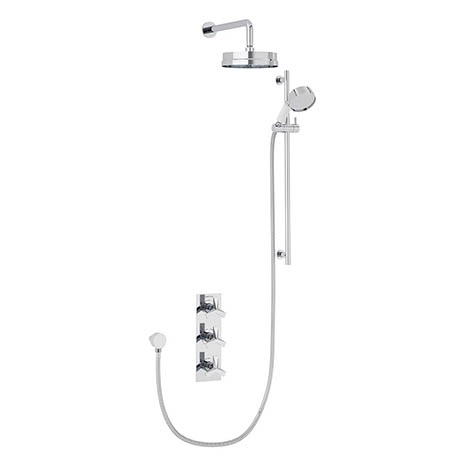 "Heritage Hemsby Dual Control Recessed Valve with Twin Stopcock, 6"" Fixed Head and Handset"