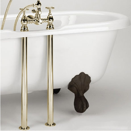 Bristan - Bath Pipe Shrouds - Gold - SHR-G profile large image view 1