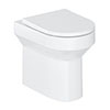 Britton Shoreditch Round Rimless Back To Wall Pan + Soft Close Seat profile small image view 1