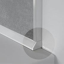 Showerwall - Sealux End Caps - White Medium Image