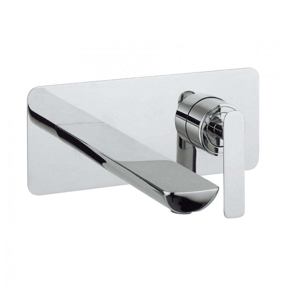 Crosswater - Silk Wall Mounted 2 Hole Set Basin Mixer - SI121WNC Large Image