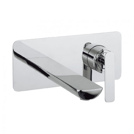 Crosswater - Silk Wall Mounted 2 Hole Set Basin Mixer - SI121WNC