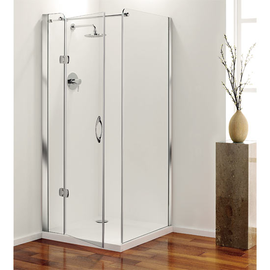 Coram - Frameless Premier Hinged Shower Door - Left Hand Open - 4 Size Options profile large image view 2
