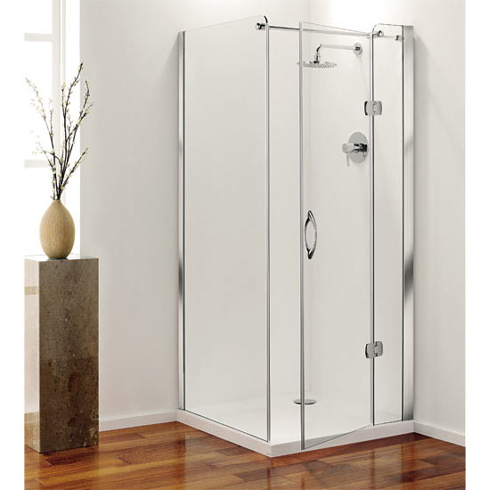 Coram - Frameless Premier Hinged Shower Door - Right Hand Open - 4 Size Options Profile Large Image