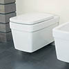 Silverdale Henley Wall Mounted Toilet inc Soft Close Seat profile small image view 1