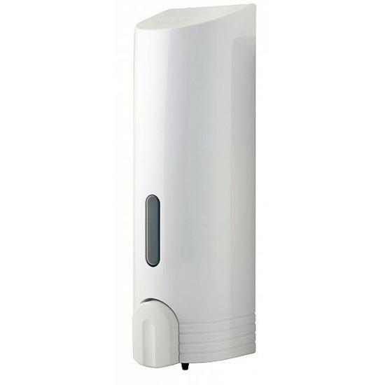 Euroshowers - Tall Single Liquid Dispenser - White - 89710 Large Image