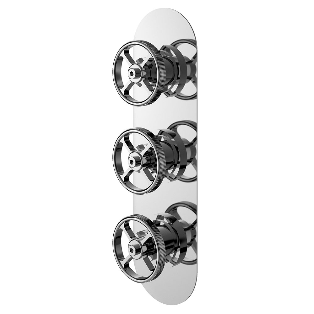 Hudson Reed Revolution Industrial Triple Concealed Thermostatic Shower Valve with Diverter - SIWTR03