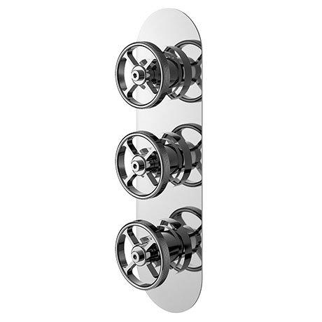 Hudson Reed Revolution Industrial Triple Concealed Thermostatic Shower Valve - SIWTR02