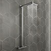 Modern Square Thermostatic Bar Shower Valve & Riser Kit - Chrome profile small image view 1
