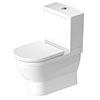 Duravit Starck 3 HygieneGlaze BTW Close Coupled Toilet + Seat profile small image view 1