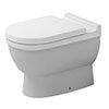 Duravit Starck 3 Back to Wall Toilet Pan + Seat profile small image view 1