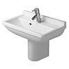Duravit Starck 3 Compact 1TH Basin + Semi Pedestal profile small image view 1