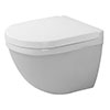 Duravit Starck 3 Durafix Compact Wall Hung Toilet + Seat profile small image view 1