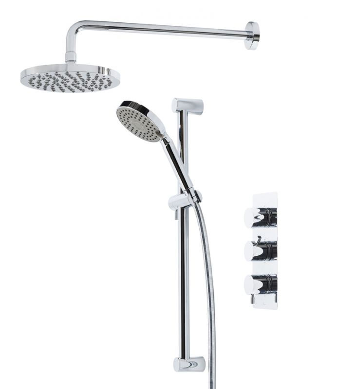 Tavistock Kinetic Thermostatic Concealed Dual Function Diverter Valve Shower System Large Image