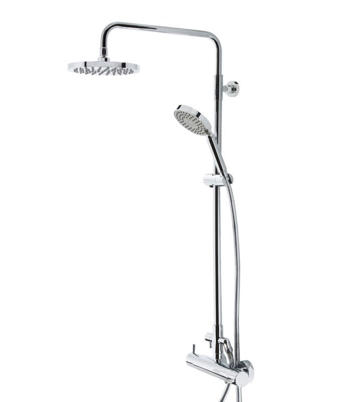 Tavistock Kinetic Thermostatic Diverter Bar Valve with Shower Head System