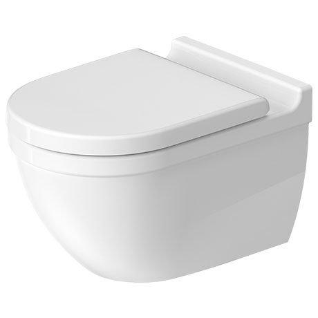 Duravit Starck 3 Rimless Durafix Wall Hung Toilet + Seat