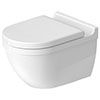 Duravit Starck 3 Rimless Durafix Wall Hung Toilet + Seat profile small image view 1