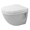 Duravit Starck 3 Compact HygieneGlaze Wall Hung Toilet Pan + Seat profile small image view 1
